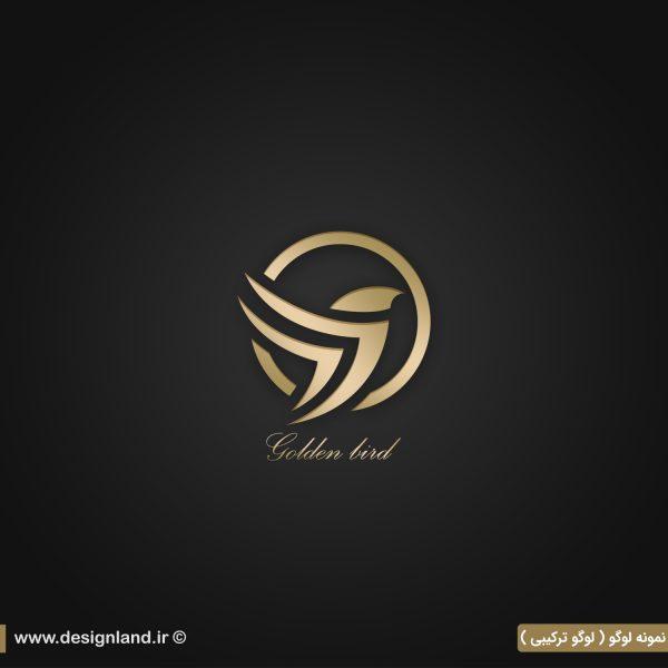 نمونه لوگو طراحی شده به سفارش Golden bird